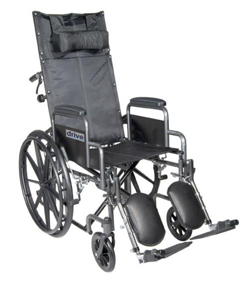 Drive Silver Sport Reclining Wheelchair