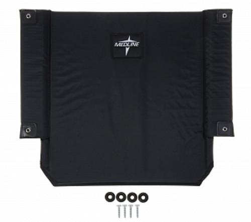 """Wheelchair 22"""" Back Nylon Upholstery, Black"""