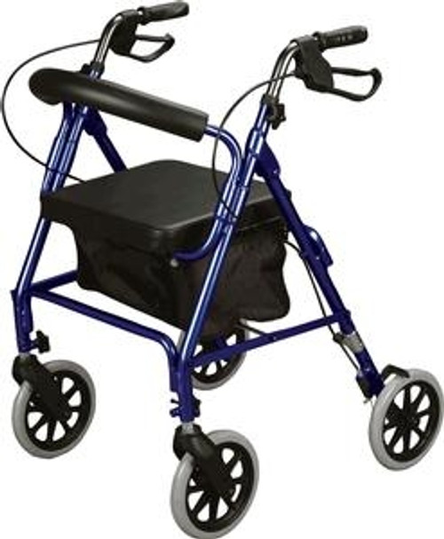 Curved Back Soft Seat Rollator
