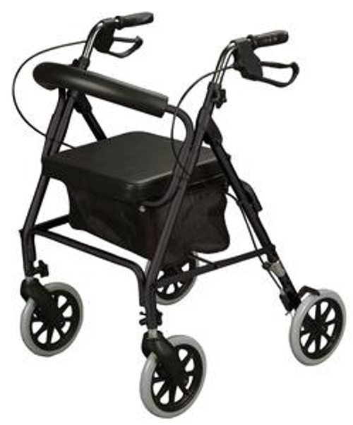 Rollator, Soft Seat, Black - Item #: ZCHMT25BLK