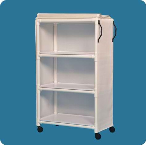 """Standard Line Linen Cart With Three 36"""" X 20"""" Removable Shelves"""