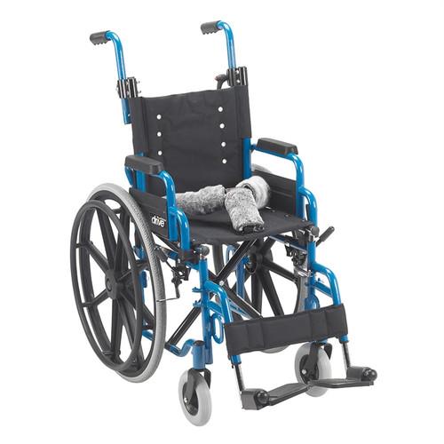 "14"" Wallaby Pediatric Folding Wheelchair, Blue"
