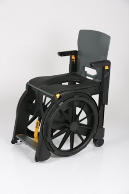 WheelAble Commode & Shower Chair with Padded Seat