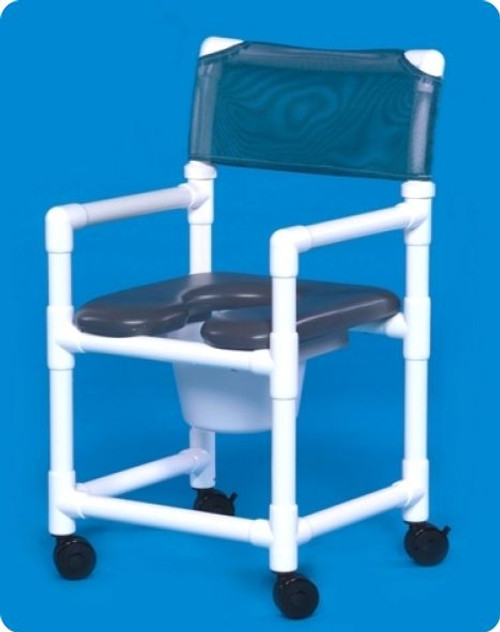 Standard Line Open Front Soft Seat Shower Chair Commodes - VLOF17P