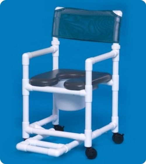 Standard Line Open Front Soft Seat Shower Chair Commodes - VLOF17PFR