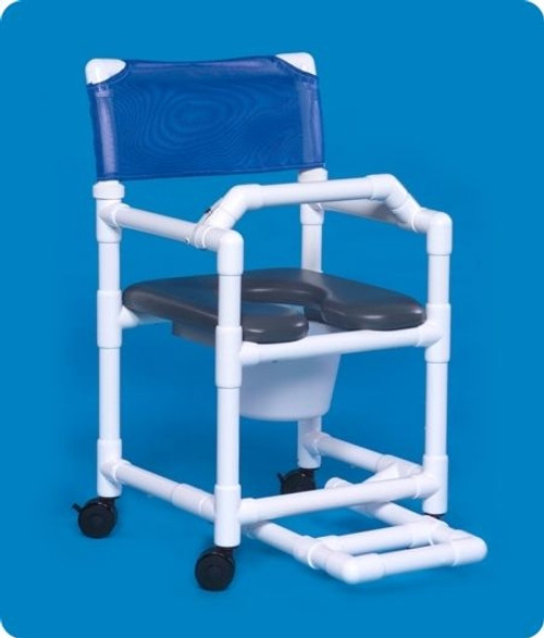 Standard Line Open Front Soft Seat Shower Chair Commodes - VLOF17PFRLB