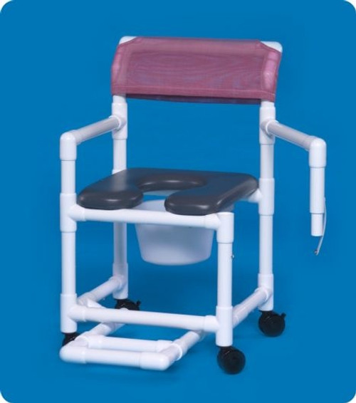 Standard Line Open Front Soft Seat Shower Chair Commodes - VLOF17PFRLSA