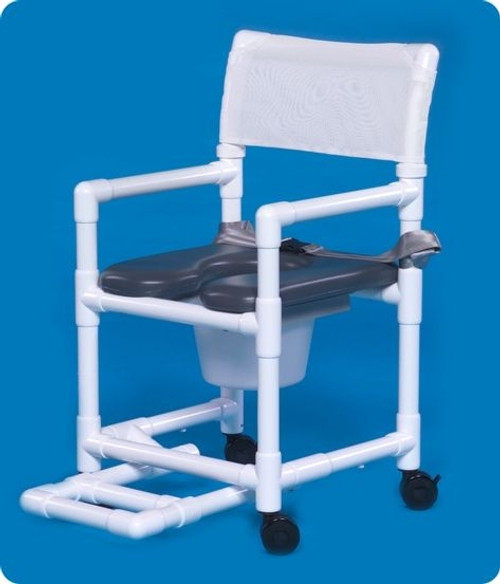 Standard Line Open Front Soft Seat Shower Chair Commodes - VLOF17PFRSB