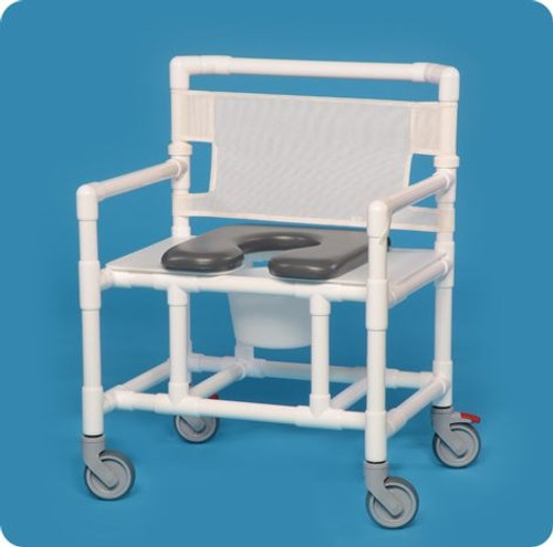 Oversize Open Front Shower Chair Commode - VLOF20P500