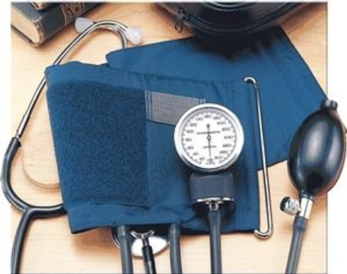 Self-Monitoring Home Blood Pressure Kit with Attached Stethoscope