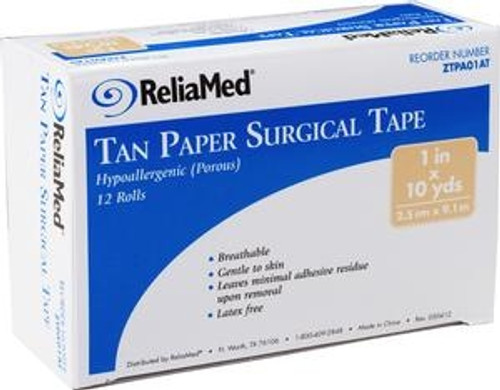 ReliaMed Paper Tan Tape