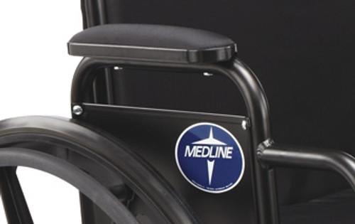 K3 & K4 Wheelchair Armrest Pads, Black