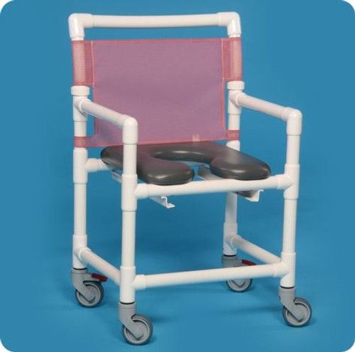 Midsize Open Front Soft Seat Shower Chair - VLOF9200MS