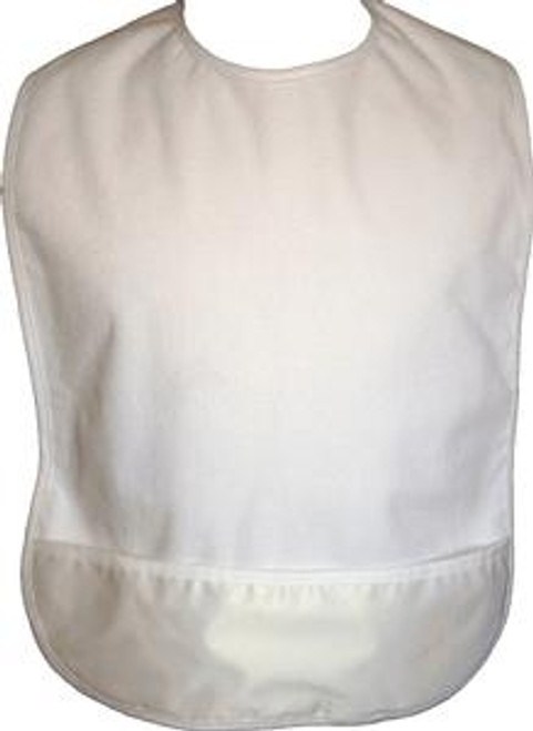 ReliaMed Adult White Terry Bibs