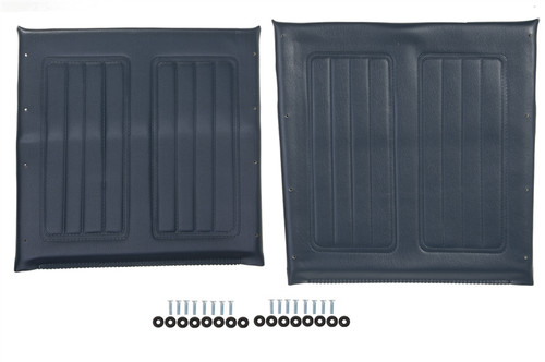 "16"" Wheelchair Seat & Back Upholstery Set, Blue"