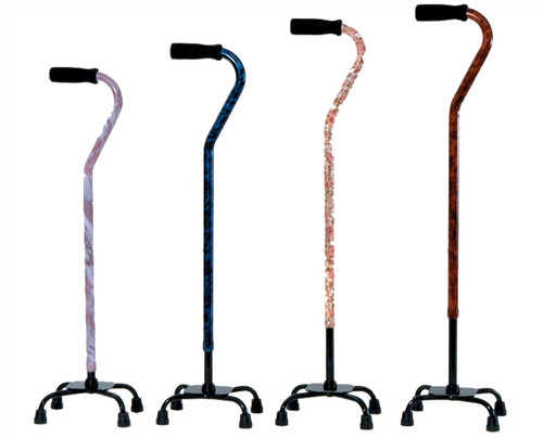 Designer Small Base Quad Cane