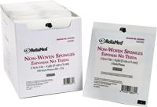 ReliaMed Gauze Sponge - Sterile, Nonwoven