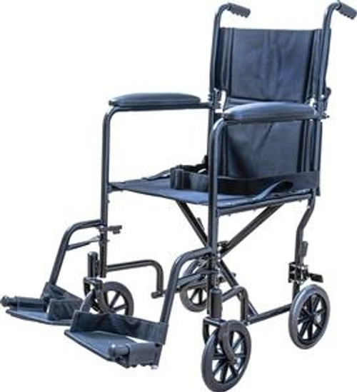 Steel Transport Chair with Swingaway Footrests
