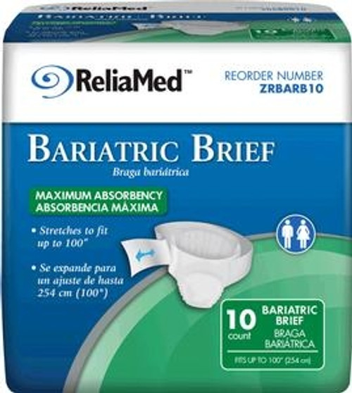 ReliaMed Bariatric Briefs