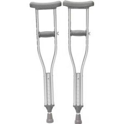 Push-Button Adjustable Crutches