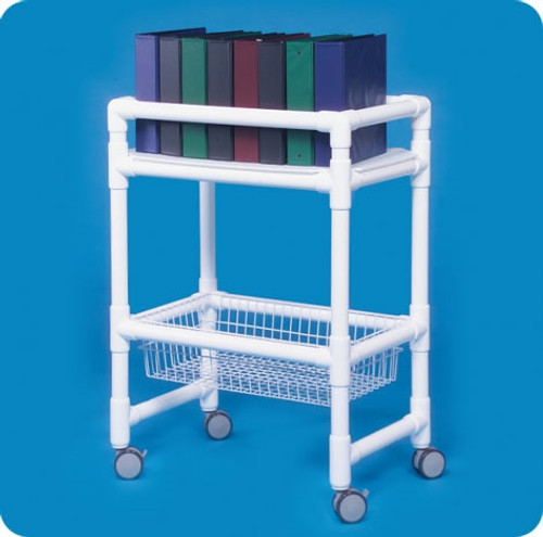 Notebook Chart Rack W/Wire Basket
