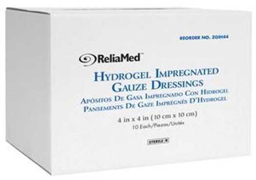 ReliaMed Hydrogel Impregnated Gauze Non-Adhering Dressing
