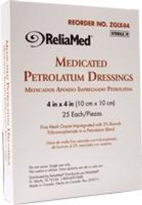 ReliaMed Medicated Petrolatum Dressings