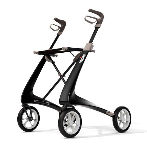 byACRE Carbon Ultralight Comfort Walker Rollator black, left side