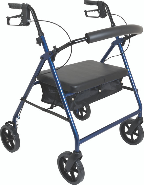 Bariatric Rollator with 8-inch Wheels