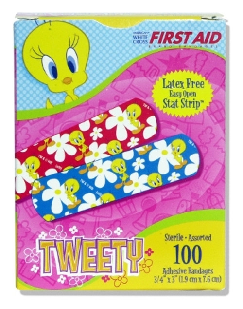 Adhesive Strip Stat Strip Plastic Rectangle Kid Design Looney Tunes / Tweety) Sterile