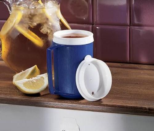 Drinking Mug 12 oz. Blue Polypropylene