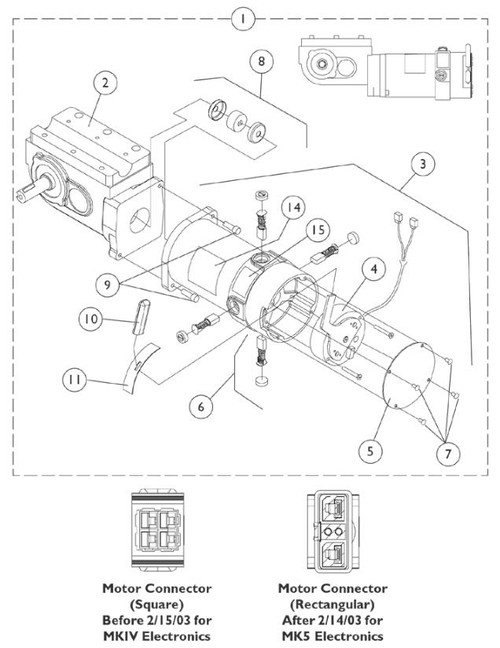 Motor/Gearbox Assembly, RWD=R MWD=L