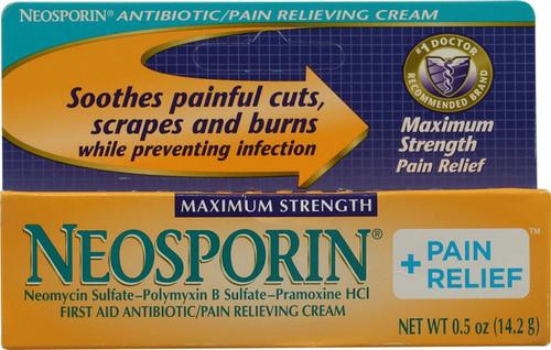 Maximum Pain Relief w/ Antibiotic, Neosporin - 0.5 oz.