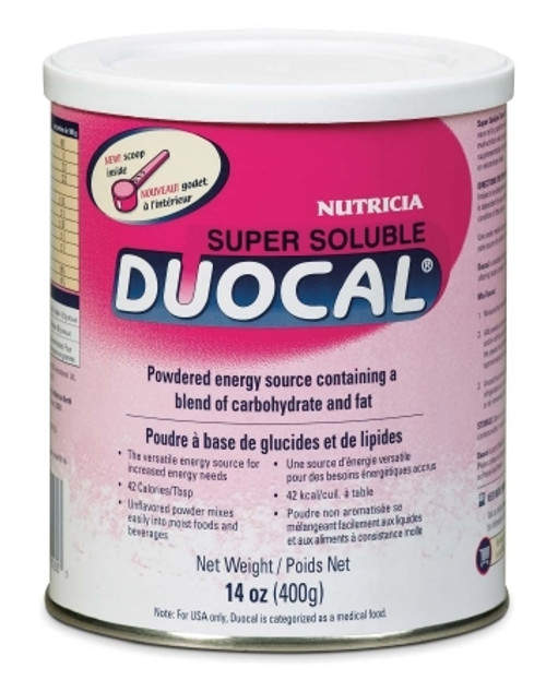 High Calorie Supplement Duocal Unflavored 14 oz. Can Powder