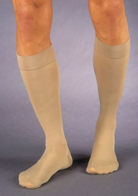 Compression Stockings JOBST Relief Knee High, Full Calf Beige Closed Toe