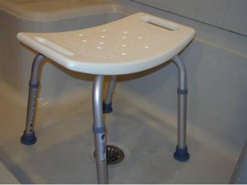sunmark Econo Aluminum Shower Bench without Back