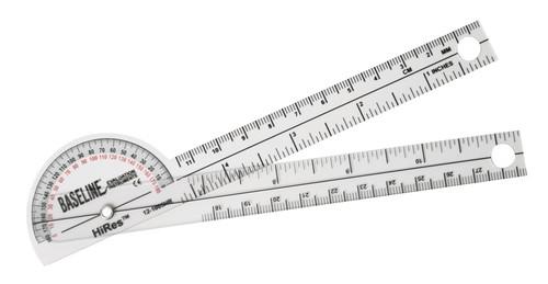 Baseline HiRes 180 Degree Clear Plastic Pocket Goniometer
