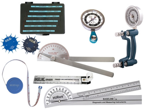Baseline 8-Piece STD Hand Evaluation Set with Discrim-A-Gon and 5-Piece Sensory Set