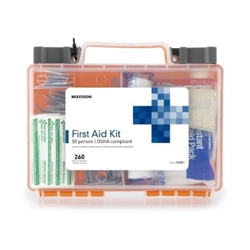 First Aid Kit McKesson 50 Person Plastic Case
