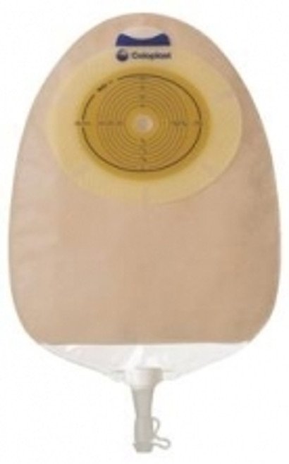 """SenSura Flat Extended Wear Urostomy Pouch Cut-to-fit 3/8""""- 3"""" Transparent"""