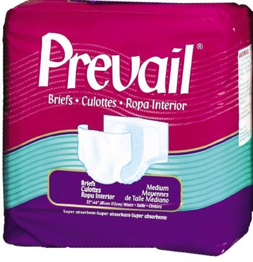 Brief Full Mat Body Shaped, Prevail 32-44 Inch - Moderate-Heavy Absorbency