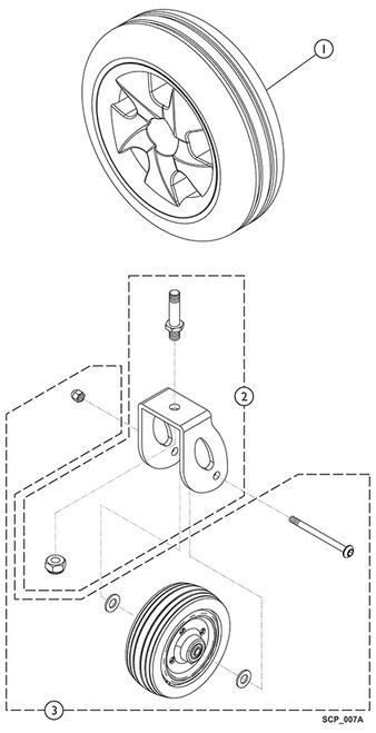 Kit Caster Wheel 9153654238