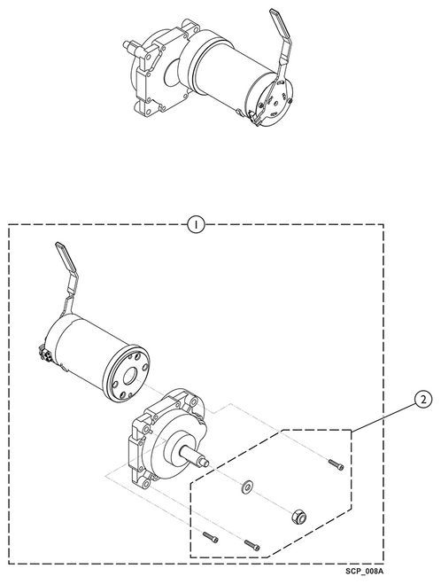 Kit Motor/Gearbox - Left 9153654239