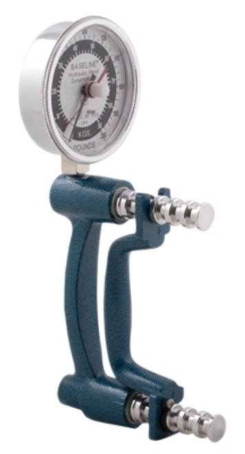 Baseline HiRes, Large Head, Hydraulic Hand Dynamometer, 200Lb.