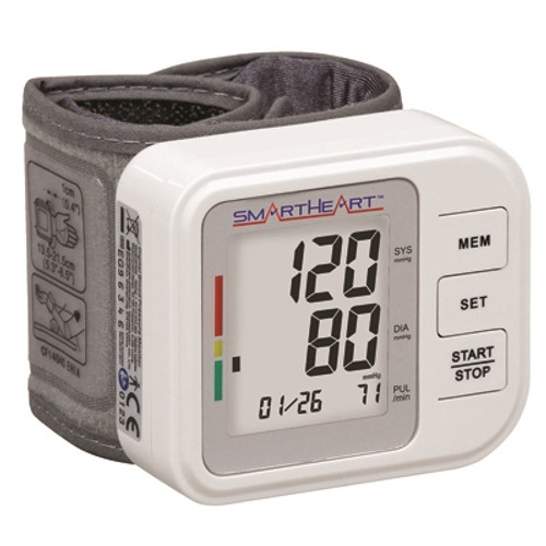 wristwatch blood pressure and pulse monitor