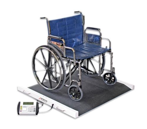 Detecto Bariatric / Wheelchair Scale - 1100 Lb X .5 Lb - 49 X 45 X 8 Inch Footprint
