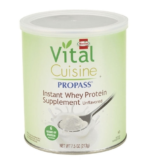 Oral Protein Supplement Vital Cuisine ProPass Whey Protein Unflavored 7.5 Oz. Can Powder