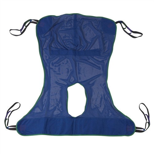 Full Body Mesh Patient Lift Sling with Commode Cutout Option