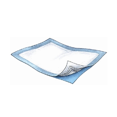 Underpad Passport 30 X 36 Inch Disposable Polymer Heavy Absorbency