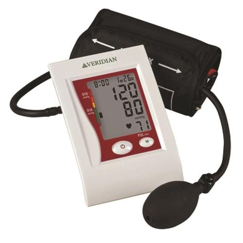 blood pressure cuff and pulse manual inflate